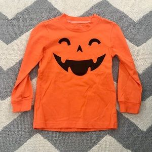 Carter's pumpkin Halloween shirt 3T